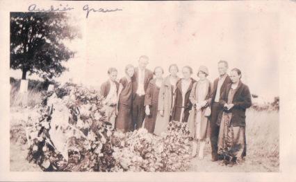 Denny Family at Audie Denney's Grave 2