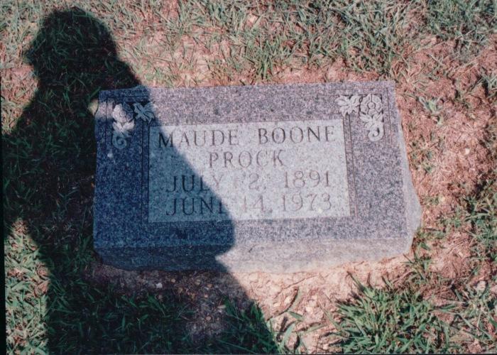 Maude Boone Prock Grave 1891-1973